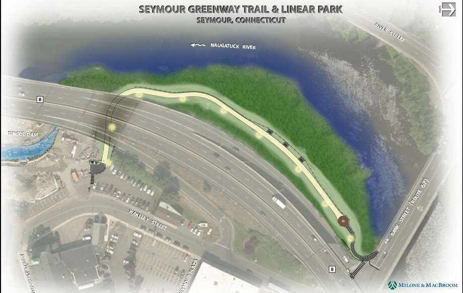 A rendering of the proposed Naugatuck River greenway through Seymour. Photo: Contributed Photo