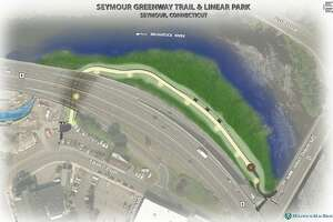 A rendering of the proposed Naugatuck River greenway through Seymour.