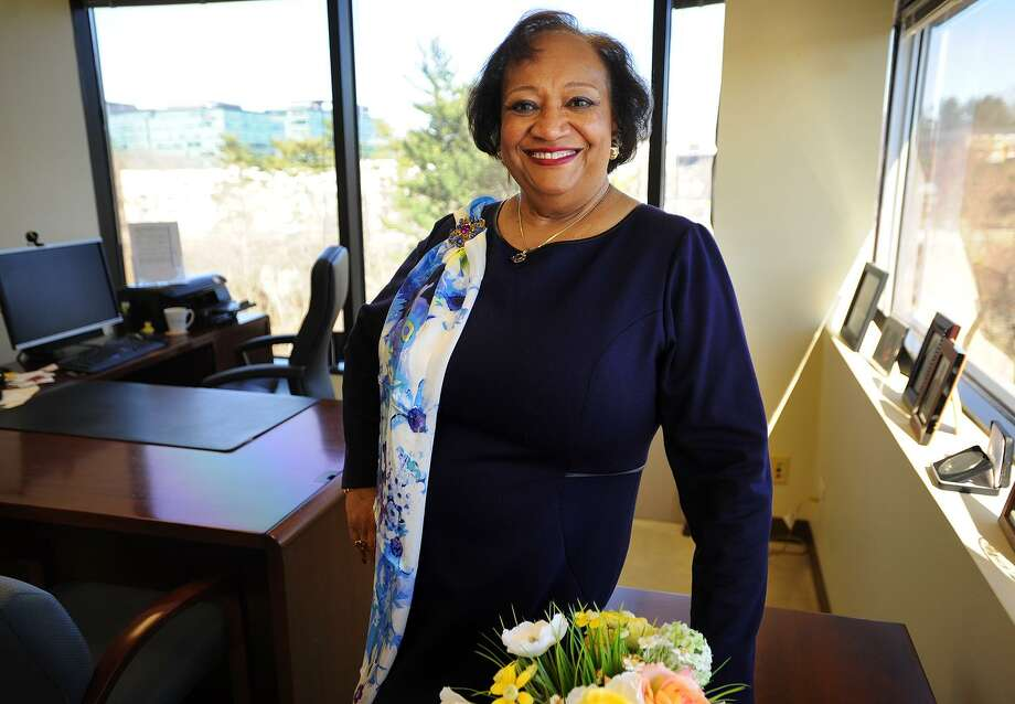 Juanita James, president and CEO of Fairfield County's Community Foundation, in her office in Norwalk on March 9. Photo: Brian A. Pounds / Hearst Connecticut Media / Connecticut Post
