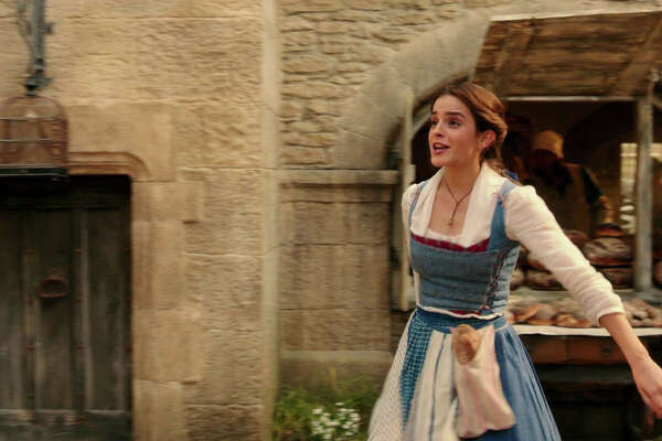 """Emma Watson as Belle in a scene from the movie """"Beauty and the Beast"""" directed by Bill Condon."""