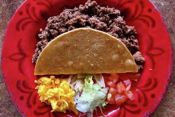 Crispy beef taco from Taquería El Charro De Jalisco on Valley Hi Drive.