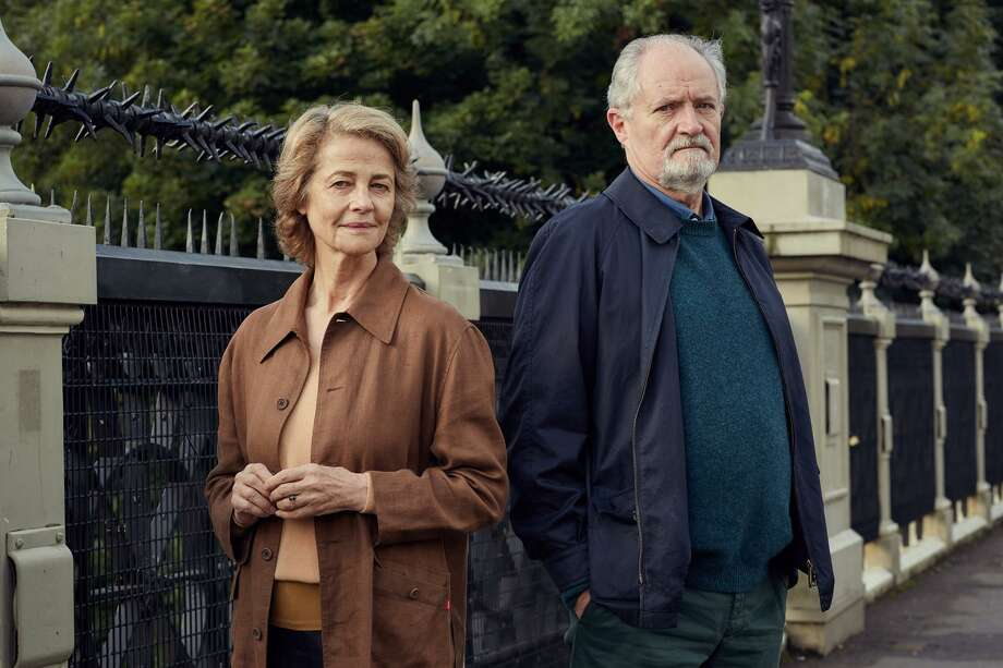 "Jim Broadbent and Charlotte Rampling in ""The Sense of an Ending."" Photo: Robert Viglasky / CBS Films / © 2017 - CBS Films"
