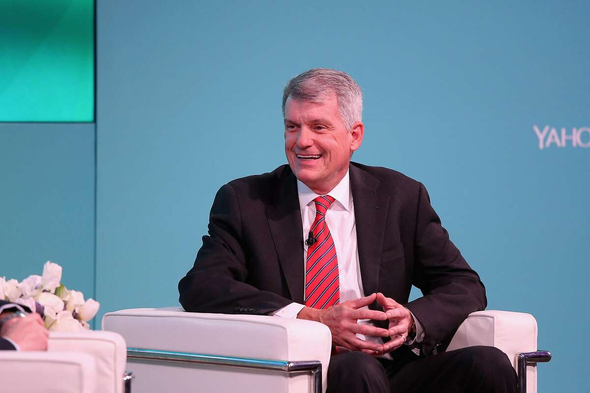 NEW YORK, NY - FEBRUARY 08: CEO, president Wells Fargo & Co. Tim Sloan speaks on stage at the Yahoo Finance All Markets Summit on February 8, 2017 in New York City. (Photo by Rob Kim/Getty Images for Yahoo Finance)