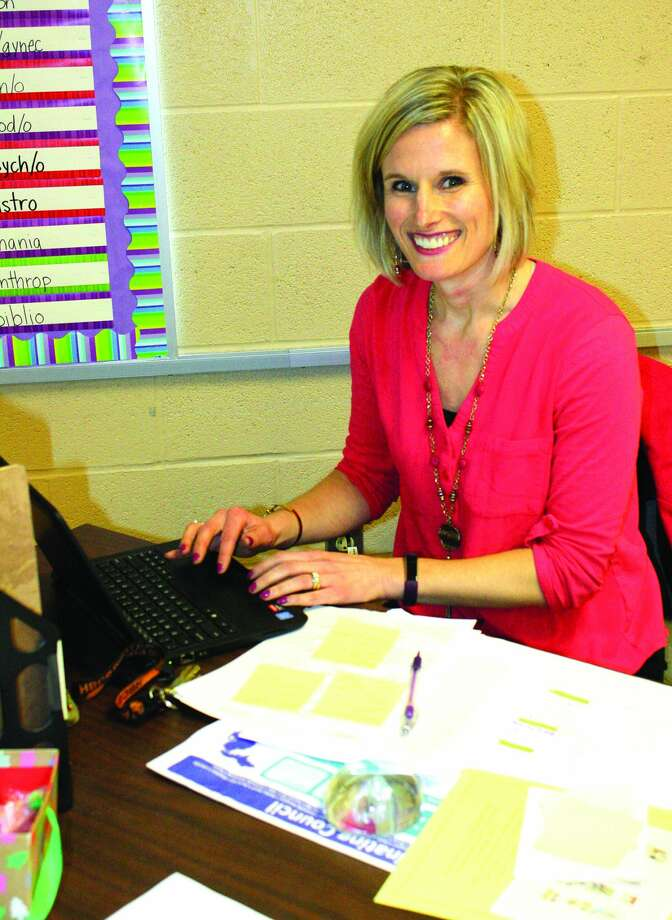 Theresa Hessling is a teacher and advisor in Harbor Beach. She teaches ninth grade and English, and advises students on post-secondary education opportunities. Photo: Rich Harp/For The Tribune
