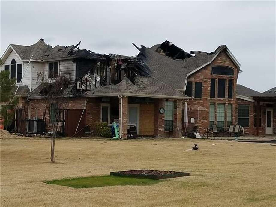 This home in McKinney, Texas was destroyed by a fire, making a unique tear-down real estate investment opportunity. Photo: Realtor.com