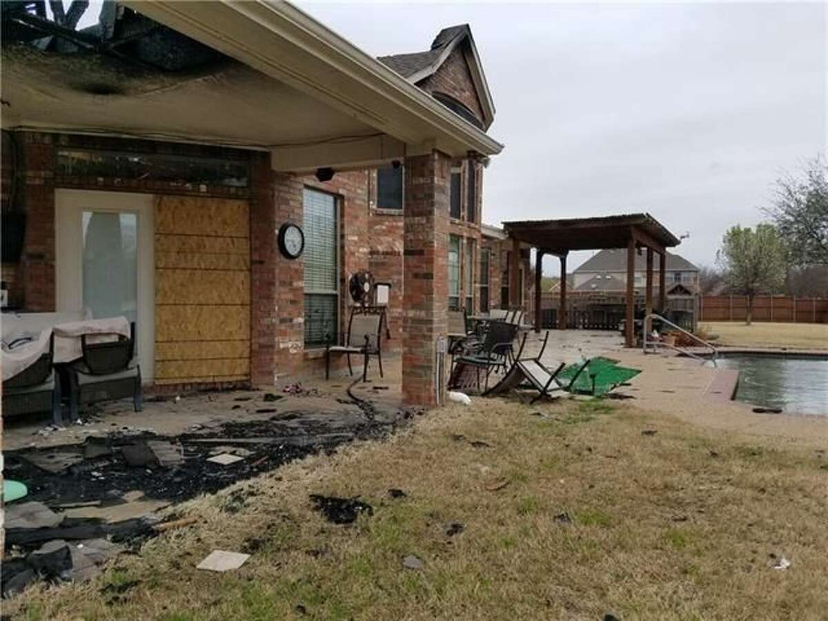 This home in McKinney, Texas was destroyed by a fire, making a unique tear-down real estate investment opportunity.