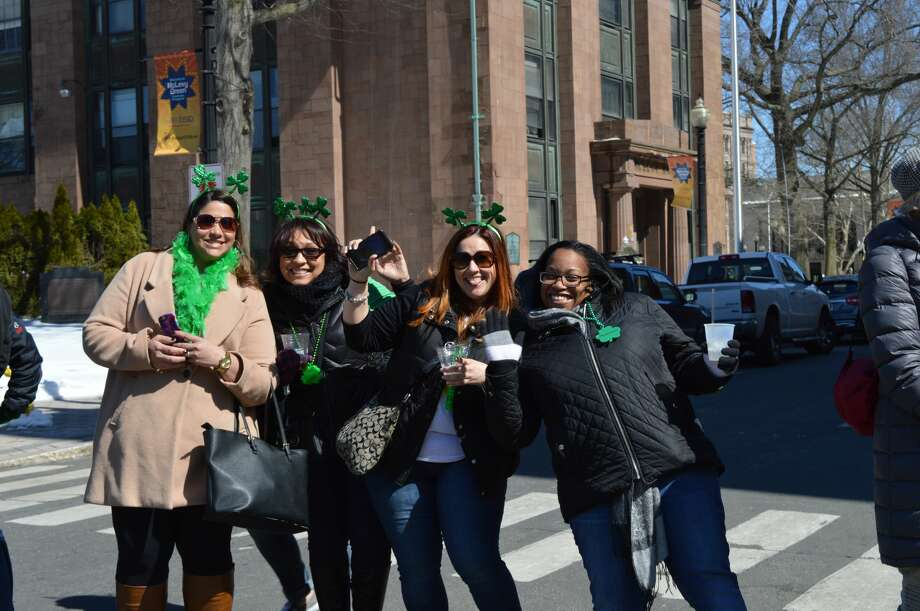 The Greater Bridgeport St. Patrick's Day Celebration hosted its 35th annual parade on March 17, 2017. Marchers traveled through downtown Bridgeport, beginning at Harbor Yard. Were you SEEN? Photo: Todd Tracy / Hearst Media