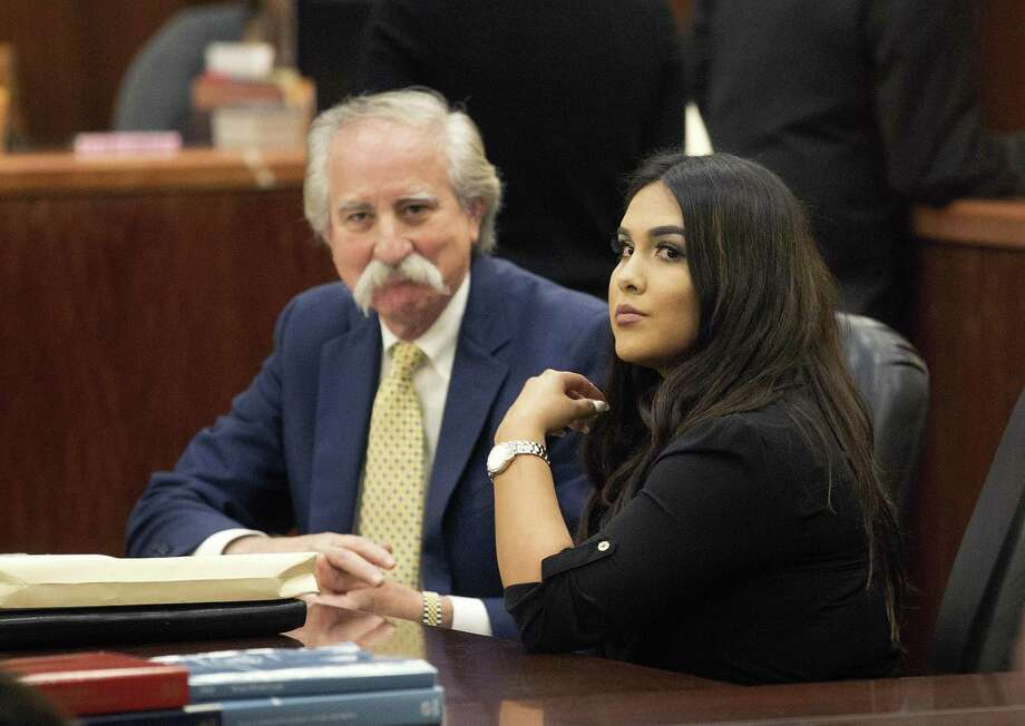 Alexandria Vera, a former Houston-area middle school teacher (shown with Ricardo Rodriguez) who pleaded guilty last year to having a long-term sexual relationship with a 13-year-old boy. Click ahead to view Texas teachers accused or convicted of inappropriate relations with students. Photo: Bob Levey /Associated Press / ©2017 Bob Levey