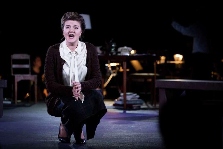 """Yelena Dyacheck, Dominique de Menil, in """"Some Light Emerges."""" Photo: Lynn Lane / Lynn Lane"""