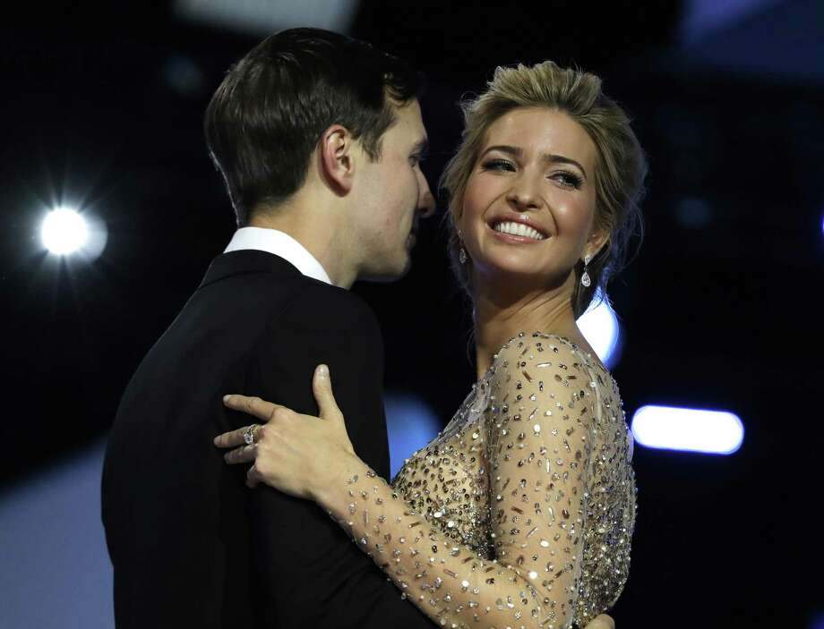 Ivanka Trump and her husband, Jared Kushner, dance at the Freedom Ball in Washington, D.C. A reader wonders why the E-N ran a story about a Saturday Night Live in which Ivanka Trump was skewered by actress Scarlett Johansson. Photo: Evan Vucci /Associated Press / Copyright 2017 The Associated Press. All rights reserved.
