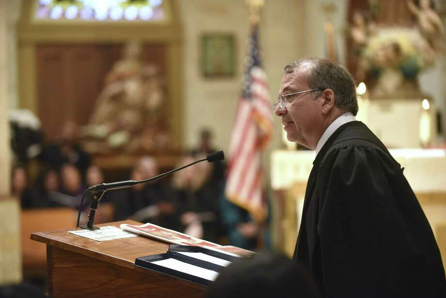 U.S. District Court Judge speaks during the Red Mass at San Fernando Cathedral in 2015. Rodriguez, nominated by a Republican president to the bench, joined a Democratic-appointed judge, Orlando Garcia, to rule that Texas intentionally discriminated in drawing three congressional districts. President Barack Obama had considered him for the 5th Circuit U.S. Court of Appeals. But Texas' two Republican senators allegedly withheld their support. Photo: Billy Calzada /San Antonio Express-News / San Antonio Express-News