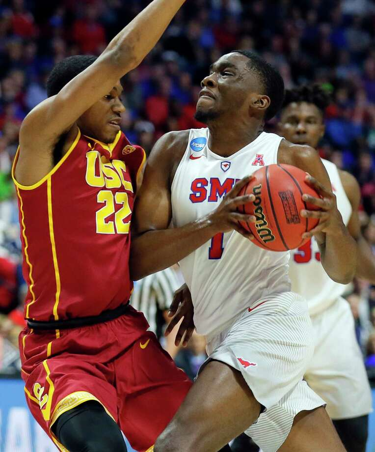 SMU guard Shake Milton (1) is doubtful for Thursday's game at Houston due to a hand injury. Milton leads the Mustangs in scoring with 18 points per game. Photo: Tony Gutierrez, Associated Press / Copyright 2017 The Associated Press. All rights reserved.
