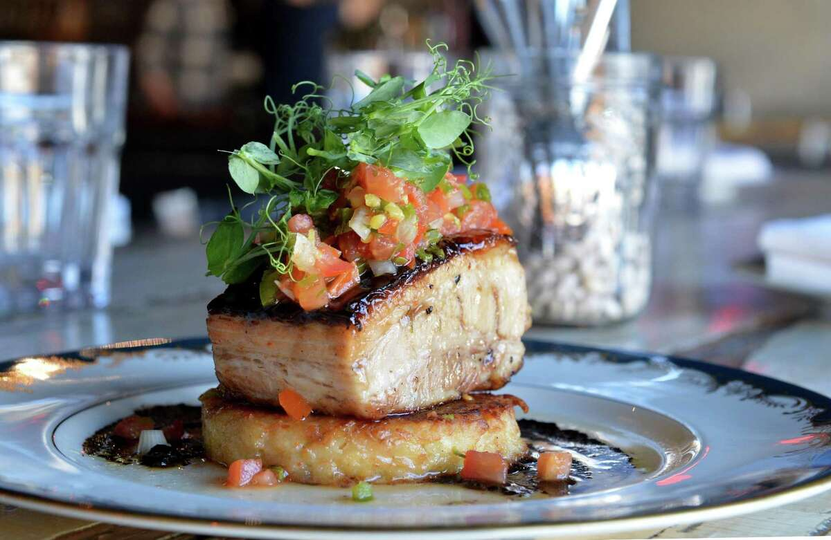Maple Glazed Pork Belly served at The Spread in SoNo on Thursday March 16, 2017 in Norwalk Conn.