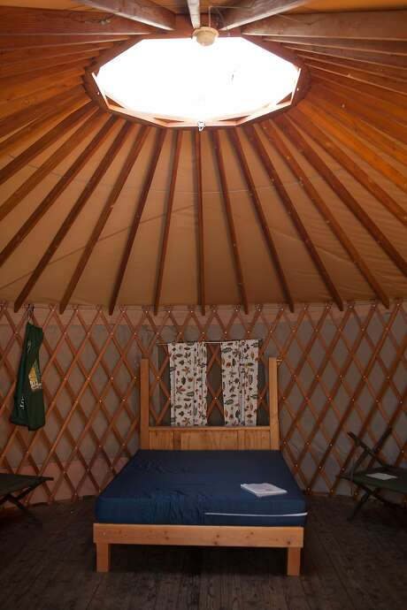 A yurt pictured at Bothe-Napa State Park campground in Napa Valley. Photo: Alex Washburn / The Chronicle