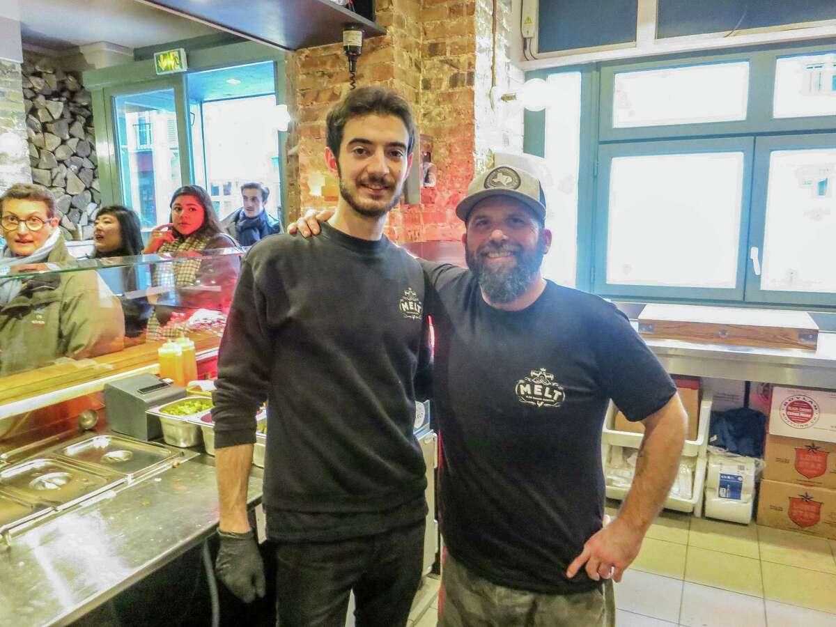 Antoine Martinez, left, and Jeff-Howard at Melt, in Paris.