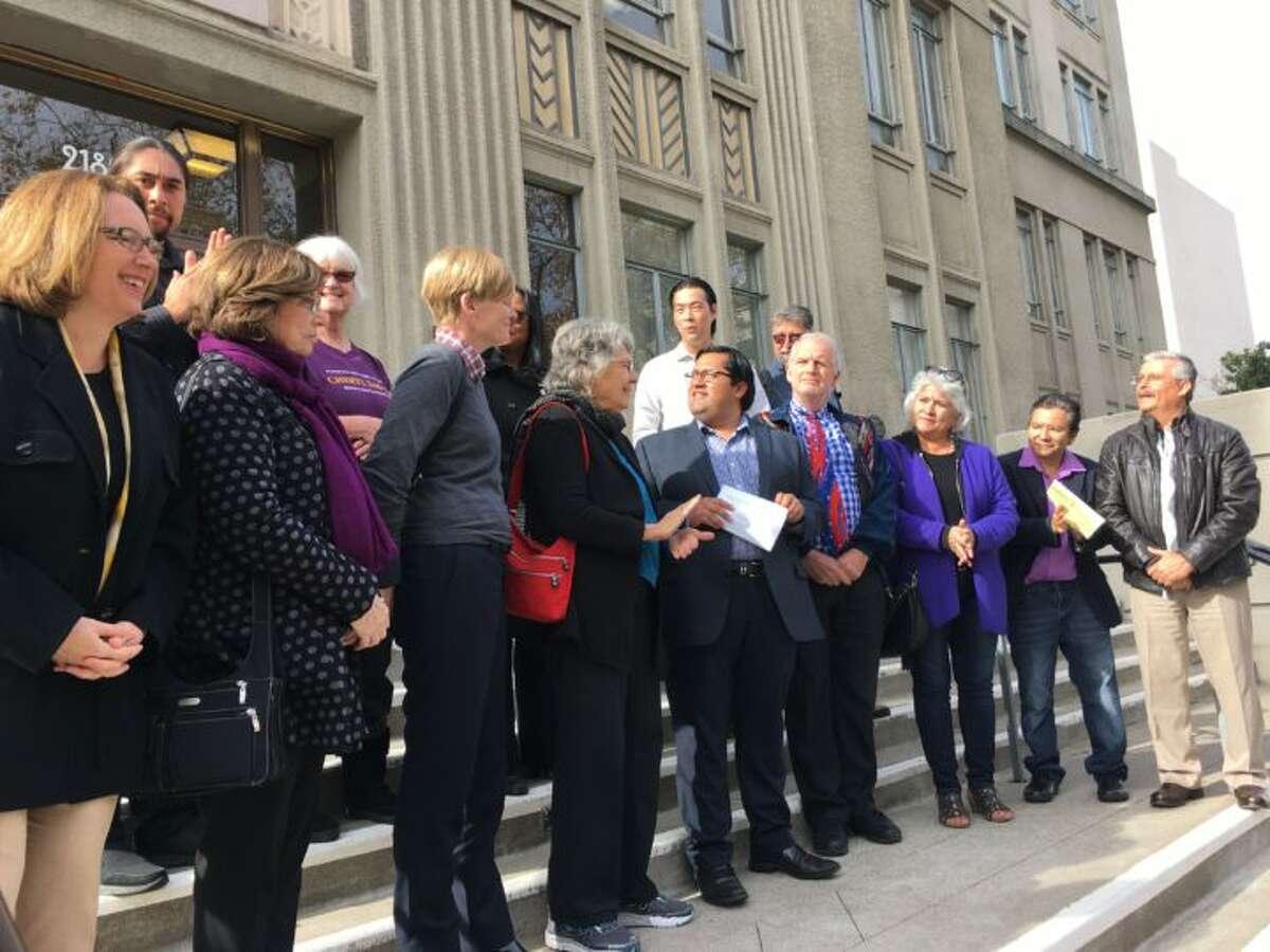 Mayor Jesse Arreguín and council members reaffirm Berkeley's sanctuary city status in November 2016.