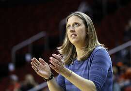 In this Thursday, March 2, 2017, photo, California head coach Lindsay Gottlieb directs her team against Southern California in an NCAA college basketball game in the Pac-12 Conference tournament in Seattle. It was a really special 24 hours for Cal coach Gottlieb. Her longtime boyfriend Patrick Martin proposed to her Sunday, March 12, and then her Bears earned one of the final spots in the women's NCAA Tournament on Monday. (AP Photo/Elaine Thompson)