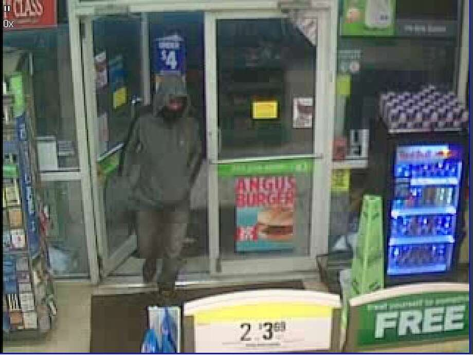 Rotterdam police say this hooded man robbed the Cumberland Farms store on Duanesburg Road at knifepoint early Thursday moring. Photo: Mike N Chris