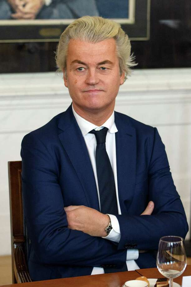 THE HAGUE, NETHERLANDS - MARCH 16:  Party for Freedom (PVV) leader Geert Wilders attends a meeting of Dutch political party leaders at the House of Representatives to express their views on the formation of the cabinet, on March 16, 2017 in The Hague, Netherlands. Prime Minister Mark Rutte was reelected for a second term in yesterday's general election which also saw the right-wing Party for Freedom (PVV) led by Geert Wilders become the country's second largest party.  (Photo by Carl Court/Getty Images) ORG XMIT: 700020948 Photo: Carl Court / 2017 Getty Images