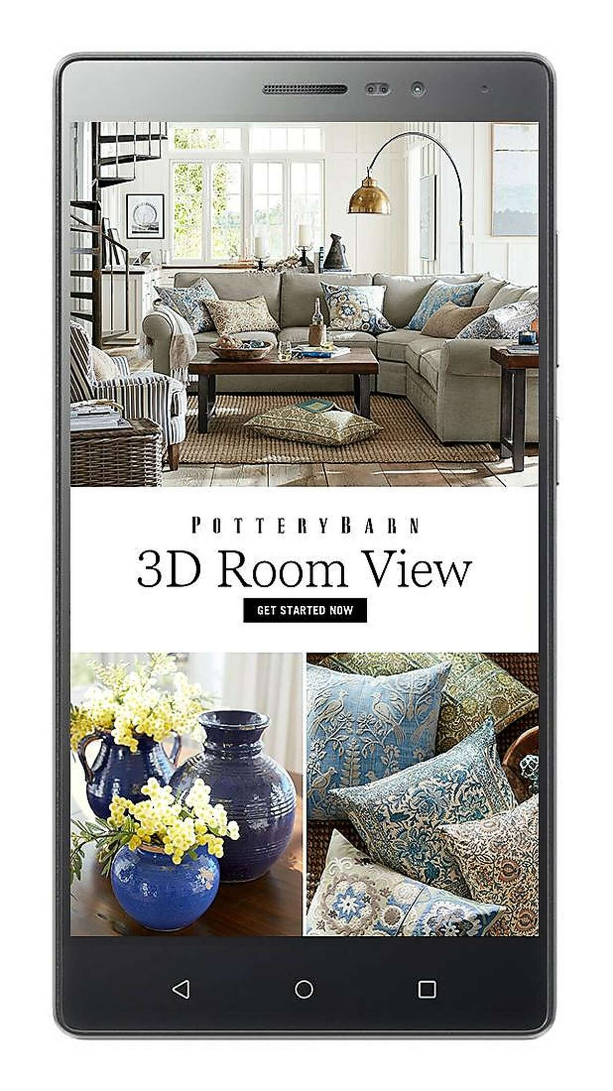 360 Room View of Pottery Barn's online catalog.