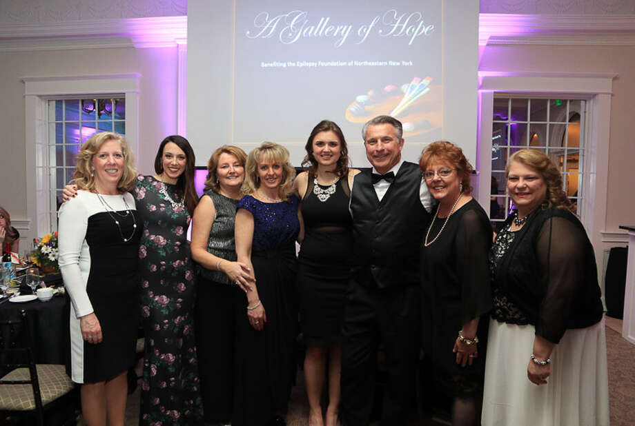 Epilepsy Foundation of Northeastern New York staff members poses for a photo during the 29th Annual Confections in Chocolate Fundraising Gala on Saturday, March 11, 2017, at Glen Sanders Mansion in Scotia, N.Y. (Provided) / © Fred Moody