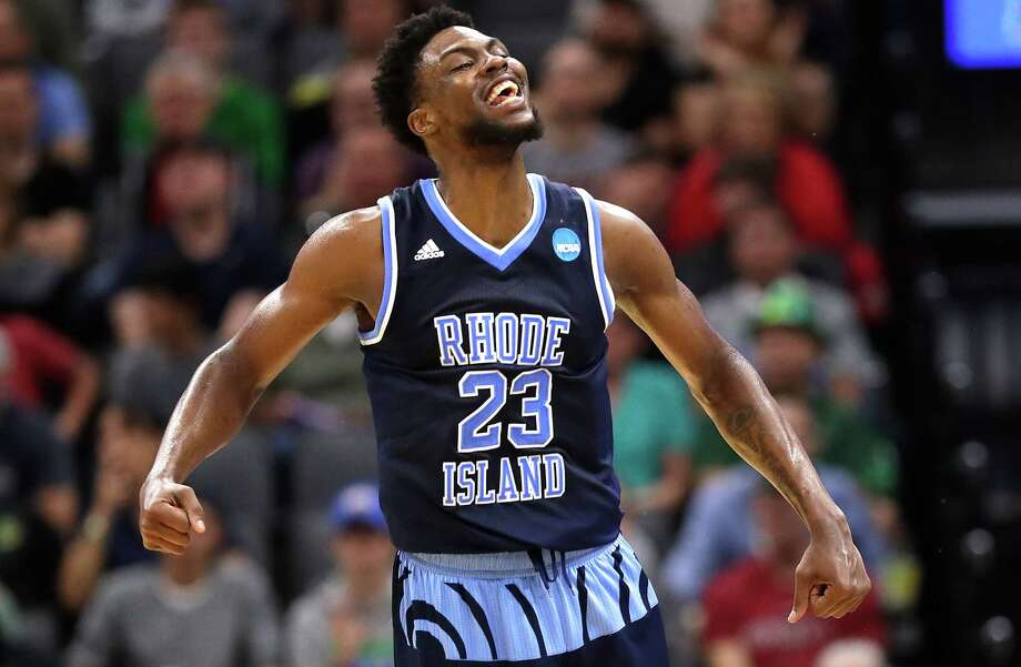 SACRAMENTO, CA - MARCH 17:  Kuran Iverson #23 of the Rhode Island Rams celebrates the play against the Creighton Bluejays during the first round of the 2017 NCAA Men's Basketball Tournament at Golden 1 Center on March 17, 2017 in Sacramento, California.  (Photo by Jamie Squire/Getty Images) ORG XMIT: 686516709 Photo: Jamie Squire / 2017 Getty Images