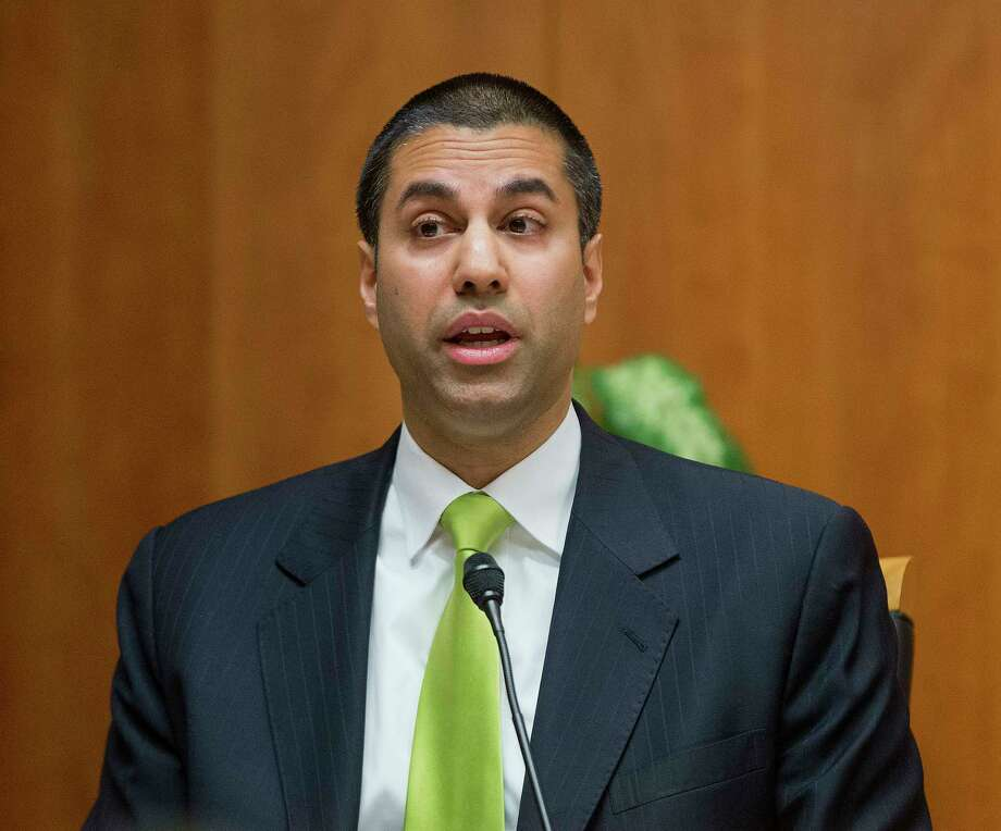 """FCC ChairmanAjit Pai attempted to take a pornstar out for dinner.On Twitter, a fake screenshot of Ajit Pai messaging a pornstar through Twitter to tell her he was a """"very big fan"""" and asking her out for dinner went viral during the mid-December repealof net neutrality. In reality, the image was fabricated and pushed out by a satire entertainment site.Read more:Did Mia Khalifa 'Expose' Ajit Pai After He 'Slid Into Her DMs'? Photo: Pablo Martinez Monsivais, STF / Copyright 2017 The Associated Press. All rights reserved."""