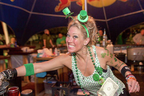 Friday night collided with a wild St. Patrick's Day celebration at the Big Texas Ice House on Friday, March 17, 2017.