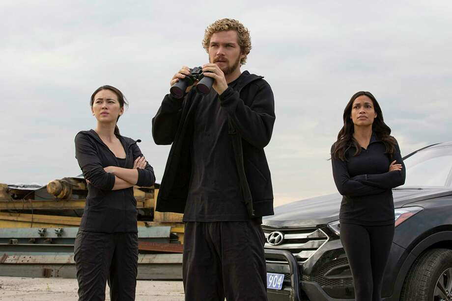 """Iron Fist"" stars, from left, Jessica Henwick, Finn Jones and Rosario Dawson. Photo: Cara Howe/Netflix, HO / TNS"