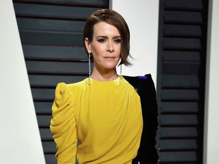 """FILE - In this Feb. 26, 2017 file photo, actress Sarah Paulson arrives at the Vanity Fair Oscar Party in Beverly Hills, Calif. Fresh off her SAG, Golden Globe and Emmy Award wins for playing Marcia Clark in """"American Crime Story,"""" Paulson is celebrating the woman who put together all those red carpet looks: Karla Welch, whom the Hollywood Reporter just named the industry's most powerful stylist. Though Paulson prefers leisurewear, she loves the ritual of getting ready for the red carpet. Having a spectacular dress to wear helps her achieve the right mindset for a million flashbulbs and screaming fans. (Photo by Evan Agostini/Invision/AP, File) Photo: Evan Agostini, INVL / 2017 Invision"""