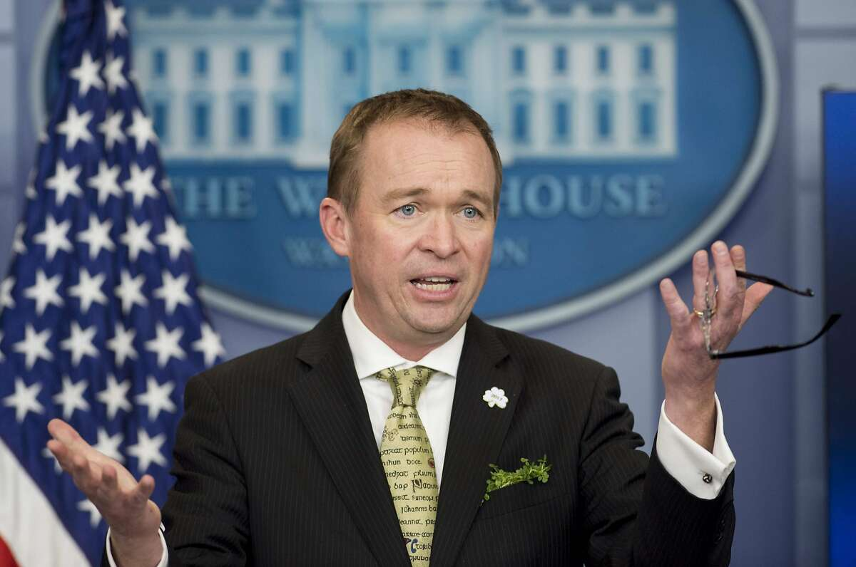 Director Mick Mulvaney of the Office of Management and Budget (OMB) speaka about US President Donald Trump's budget during the daily press briefing in the Brady Press Briefing Room at the White House in Washington, DC. The art world is voicing horror at President Donald Trump's push to eliminate US cultural funding entirely, saying that poor and rural Americans will be hardest hit. / AFP PHOTO / SAUL LOEBSAUL LOEB/AFP/Getty Images