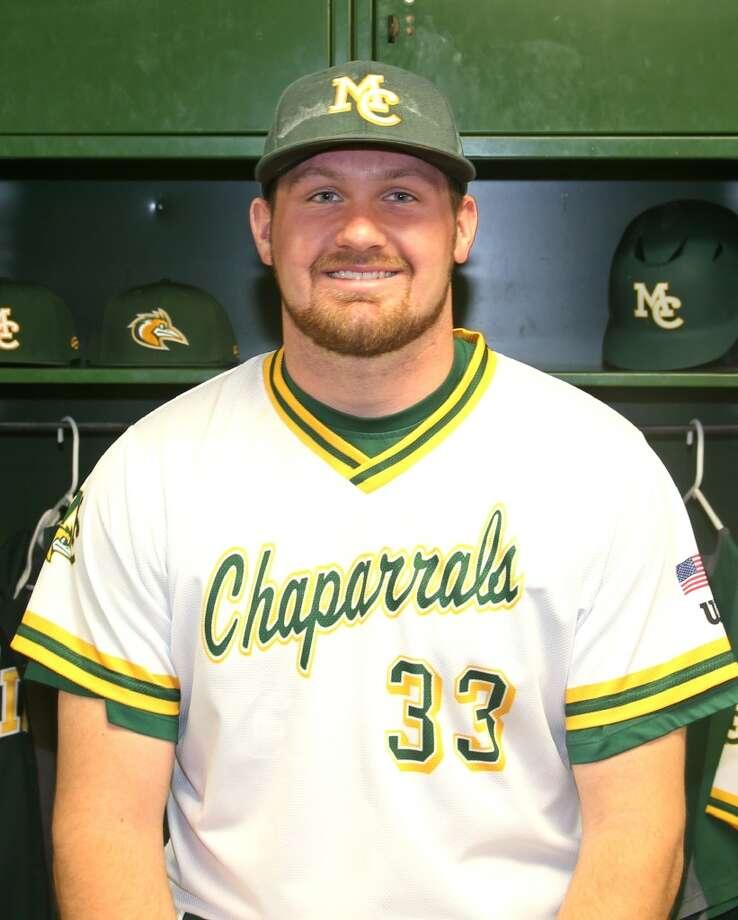 Midland College baseball player Jonathan Nicholson