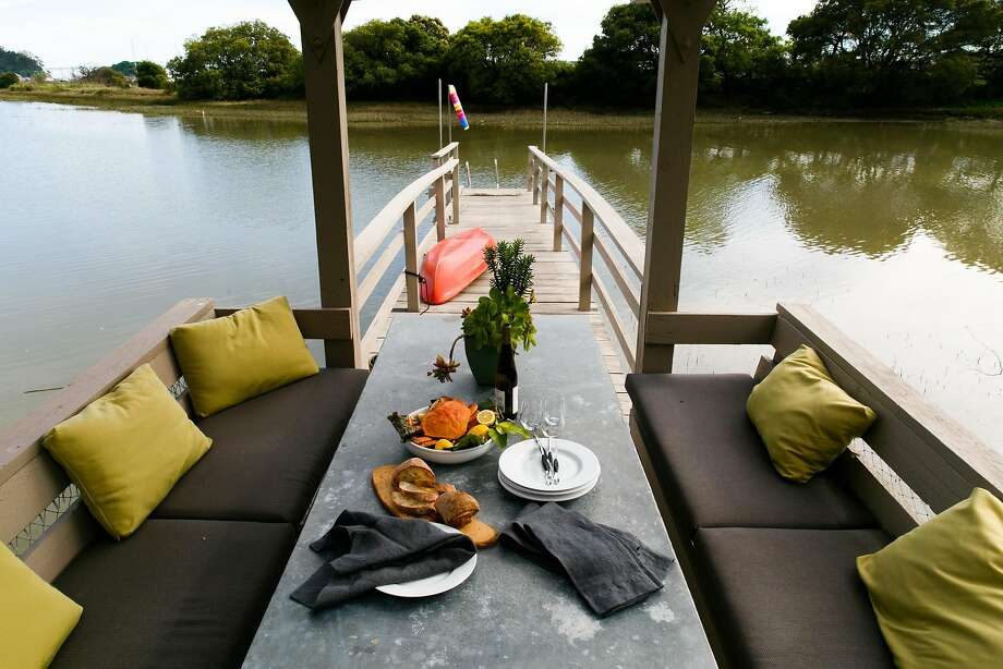 Dock seating at the home of Tricia Rose and Stefan Sargent near Loch Lomond Marina in San Rafael. Photo: Mason Trinca, Special To The Chronicle
