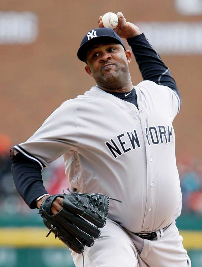New York Yankees' CC Sabathia pitches against the Detroit Tigers during the second inning of a baseball game, Saturday, April 9, 2016, in Detroit. (AP Photo/Duane Burleson) ORG XMIT: MIDB103 Photo: Duane Burleson / FR38952 AP