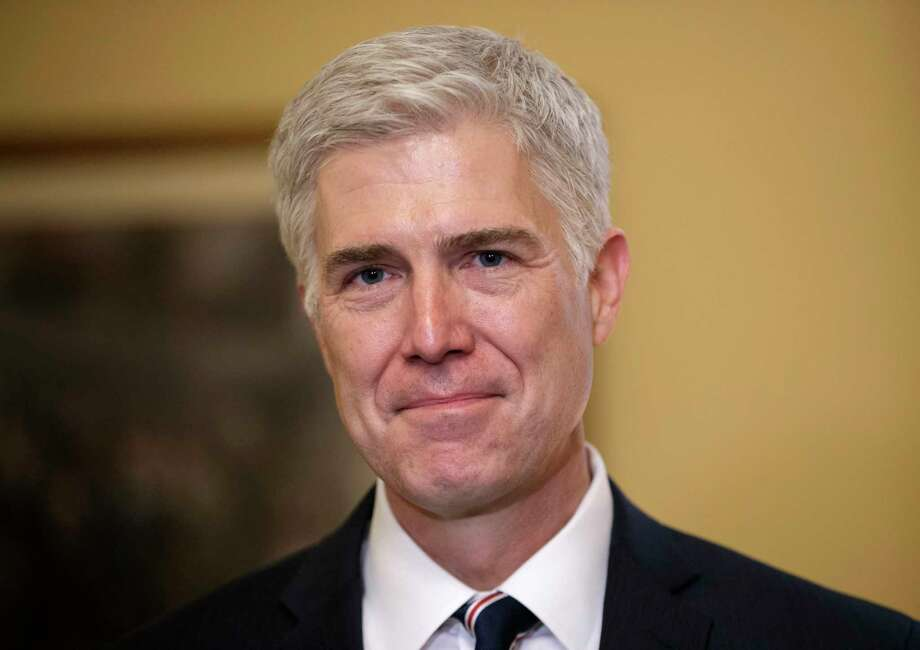 FILE - In this Feb. 1, 2017 file photo, Supreme Court Justice nominee, Neil Gorsuch is seen on Capitol Hill in Washington.  (AP Photo/J. Scott Applewhite, File) Photo: J. Scott Applewhite, STF / AP