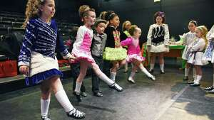 Boland School of Irish Dance 8 and under group warms up before their performance during the 3rd Annual Collar City Kilt Fest Saturday March 18, 2017 in Troy, NY.  (John Carl D'Annibale / Times Union)