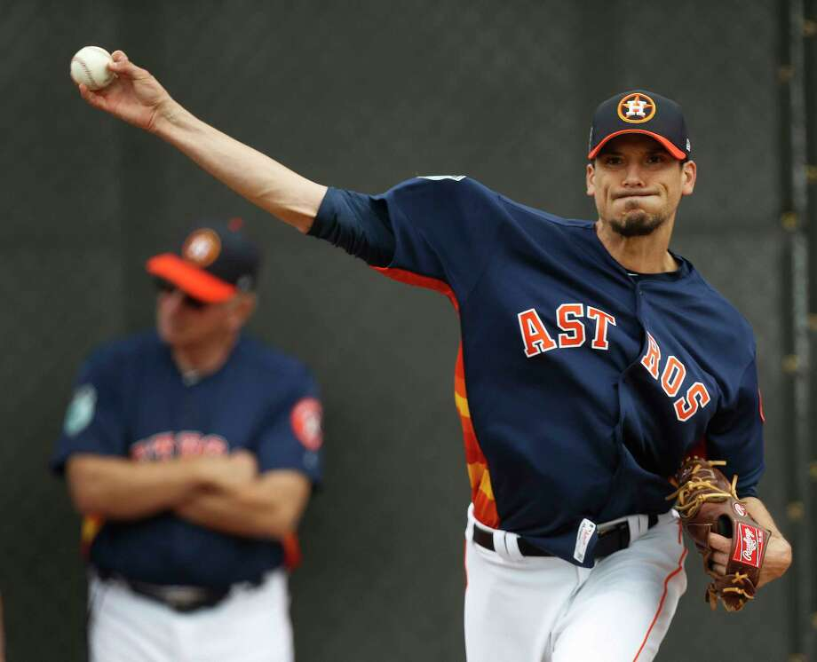 Houston Astros starting pitcher Charlie Morton (50) pitches during spring training at The Ballpark of the Palm Beaches, in West Palm Beach, Florida, Thursday, February 16, 2017. ( Karen Warren / Houston Chronicle ) Photo: Karen Warren, Staff Photographer / 2017 Houston Chronicle