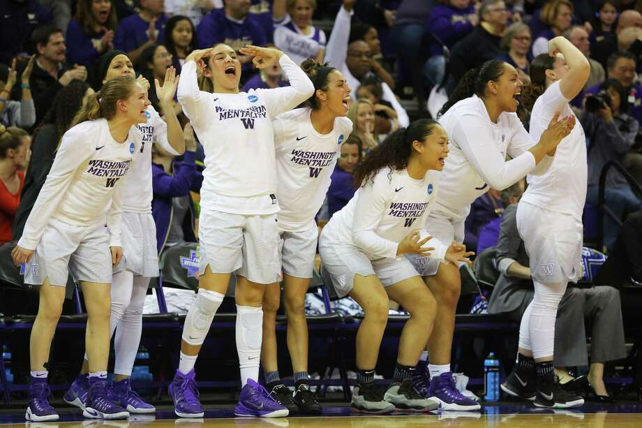 The University of Washington bench cheers during a first-round NCAA tournament game between the Huskies and Montana State, Saturday, March 18, 2017 at Alaska Airlines Arena. Photo: GENNA MARTIN/SEATTLEPI.COM / SEATTLEPI.COM
