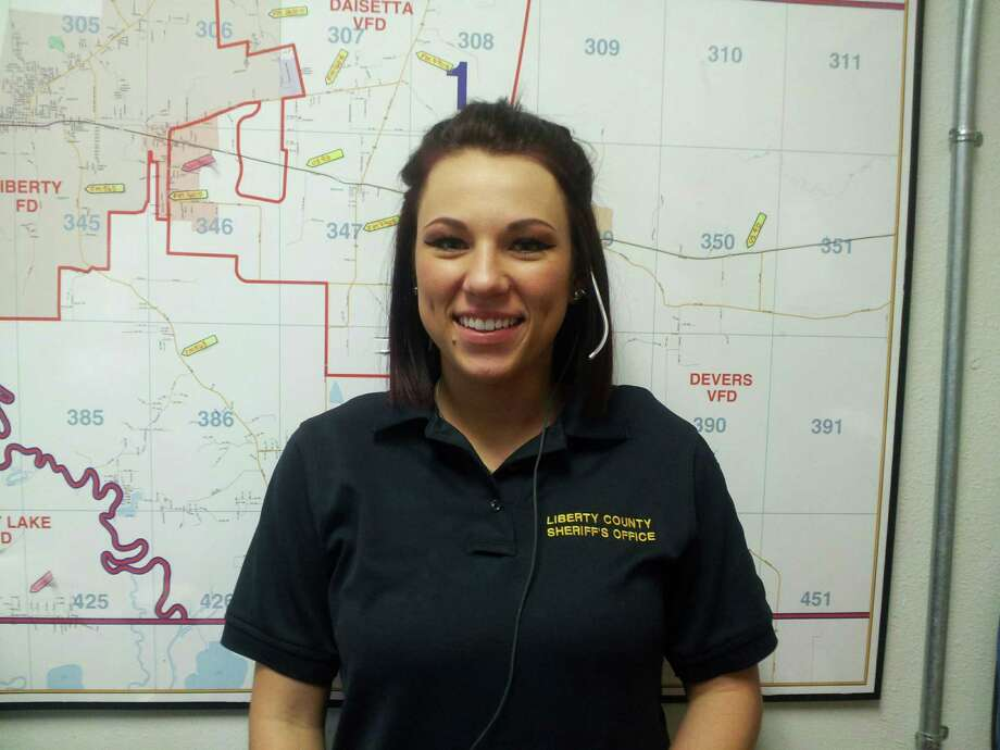 Shelby Bonin joined the Liberty County Sheriff's Office Dispatch Center just over a year ago. She is the March 2017 employee of the month. Photo: Submitted