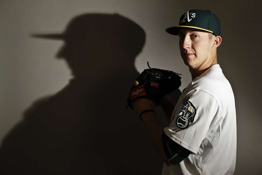 This is a 2017 photo of relief pitcher Daniel Gossett of the Oakland Athletics baseball team poses for a portrait. This image reflects the Athletics active roster as of Wednesday, Feb. 22, 2017, when this image was taken. (AP Photo/Chris Carlson) Photo: Chris Carlson, Associated Press