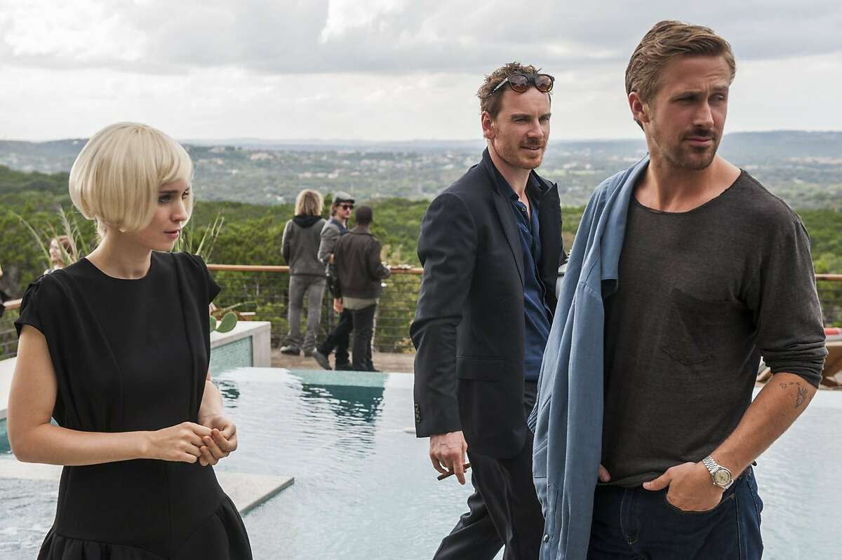 Ryan Gosling, Michael Fassbender, and Rooney Mara in Song to Song (2017). (Van Redin/Broad Green Pictures/TNS)