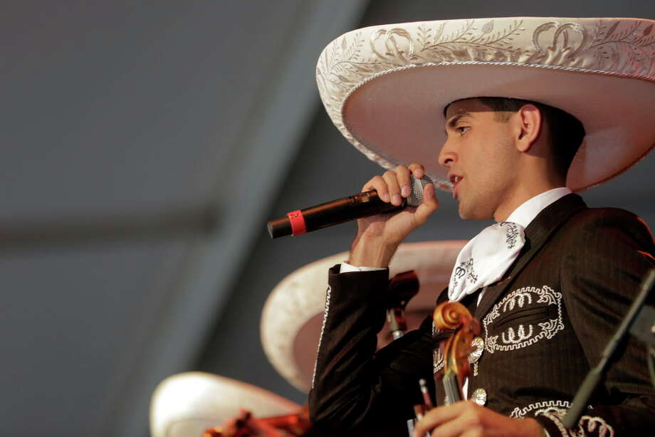 A band performs during the Mariachi Invitation semifinals during Go Tejano Day at the Houston Livestock Show and Rodeo on Sunday, March 19, 2017. Photo: Elizabeth Conley, Houston Chronicle / © 2017 Houston Chronicle