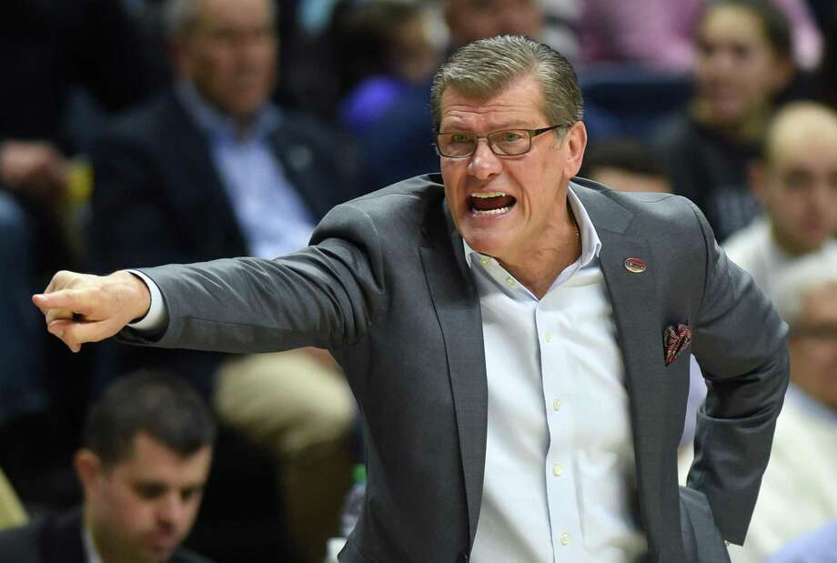 As Geno Auriemma and his Huskies chase a 12th national title, the long-term outlook for UConn is clouded by the school's exclusion from the Power 5 conferences. Photo: Brad Horrigan / The Hartford Courant / Hartford Courant