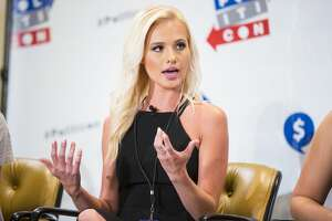 Tomi Lahren seen at Politicon 2016 at The Pasadena Convention Center on Saturday, June 25, 2016, in Pasadena, CA. (Photo by Colin Young-Wolff/Invision/AP)