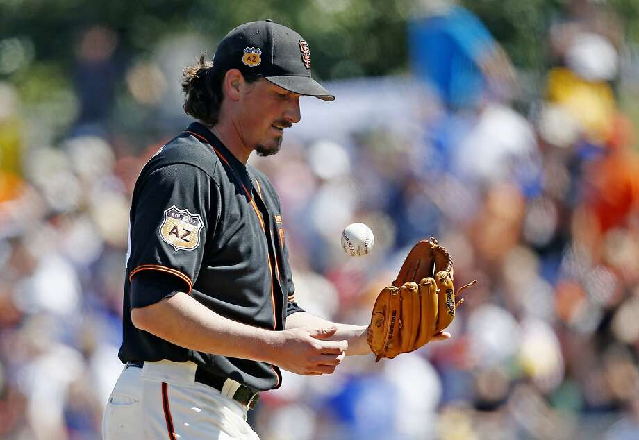 Jeff Samardzija admitted he needs to work on endurance after getting hit hard in his fifth and final inning on a 96-degree day. Photo: Ross D. Franklin, Associated Press