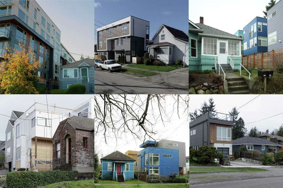 Old and new housing neighbor each other in neighborhoods that are seeing new construction and more upzoning around Seattle. Photo: SEATTLEPI.COM / SEATTLEPI.COM