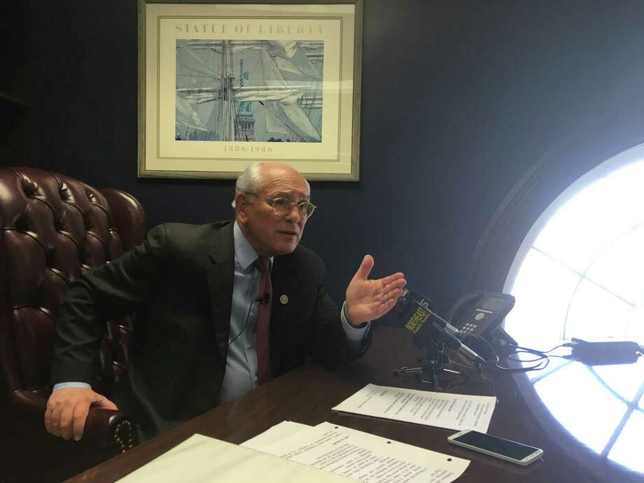 Congressman Paul Tonko talks about his concerns with the American Health Care Act in his Albany office on Sunday, March 19, 2017. (Wendy Liberatore/Times Union)