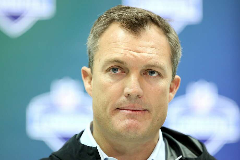 San Francisco 49ers general manager John Lynch speaks at a press conference at the 2017 NFL football scouting combine Thursday, March 2, 2017, in Indianapolis. (AP Photo/Gregory Payan) Photo: Gregory Payan, Associated Press