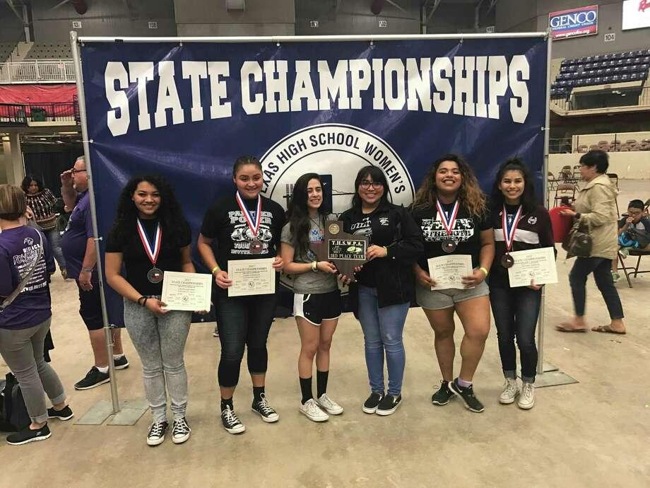 From left, Laisha Gardner, Layla Espinoza, Tammy Idrogo, Anika Perez, Deborah Lugo and Monika Saldivar helped United South place third at the state meet. Photo: Courtesy Photo