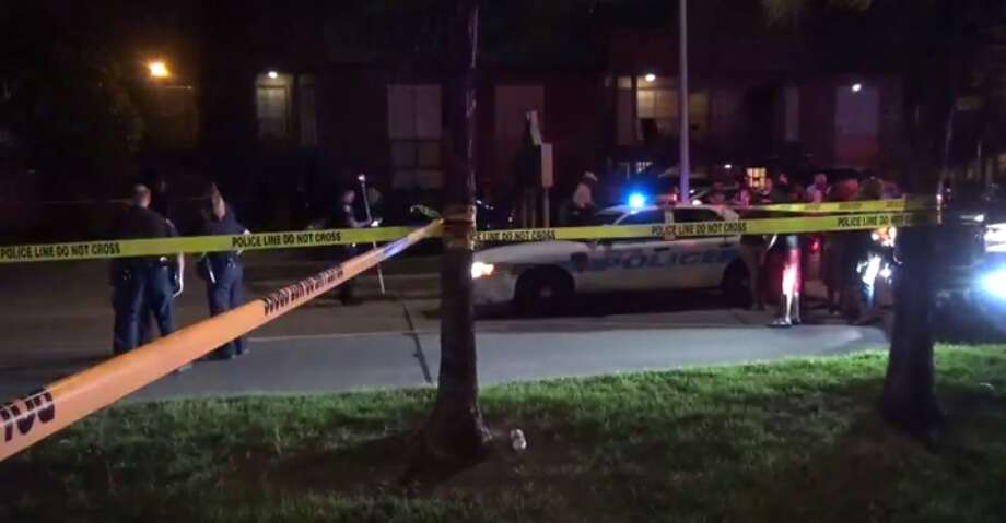 A crash in north Houston between a motorcycle and a car Sunday night left one person dead. (Metro Video) Photo: Metro Video